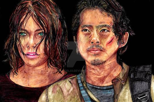 Maggie and Glenn only pen