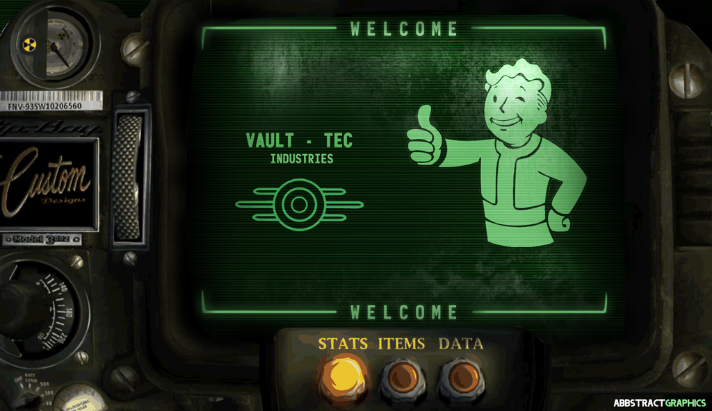 The Custom Pip Boy 3002 Welcome Screen Fallout By ABBSTractGraphics