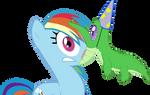 Rainbow Dash and Gummy