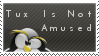Stamp - Tux No Amused by AnonymousLink