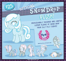 Snowdrop Plush Toy by Silly Filly Studios by LunarShineStore