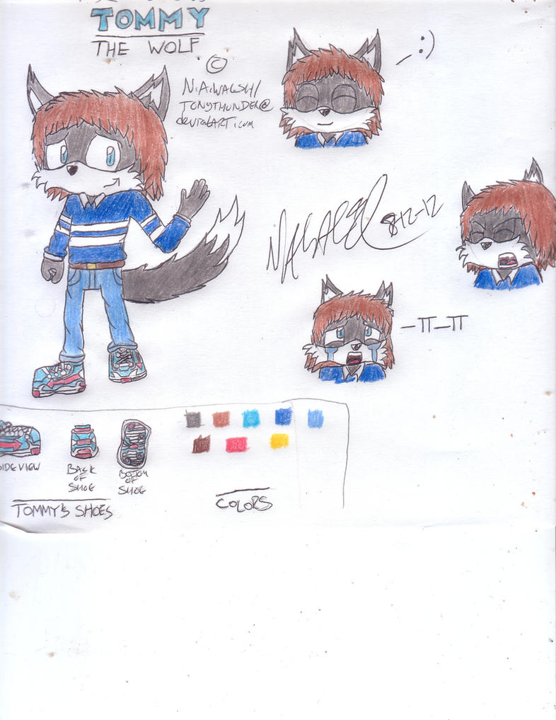 Tommy the Wolf Ref by Tonythunder