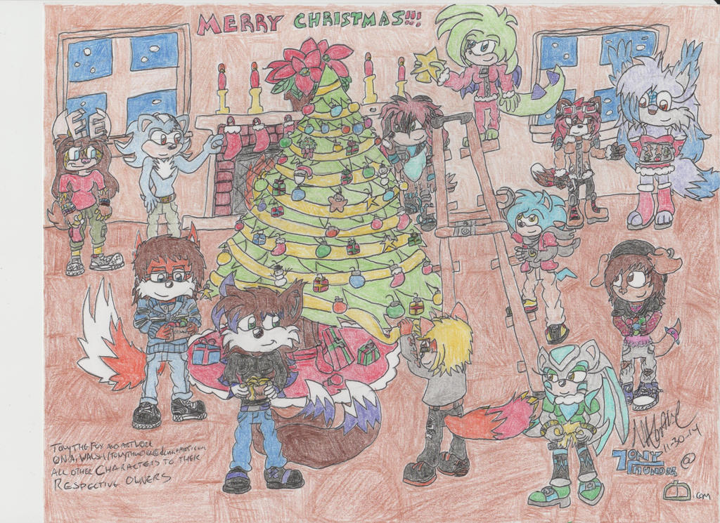 Puttin' up the Tree (Christmas Group Pic 2014) by Tonythunder