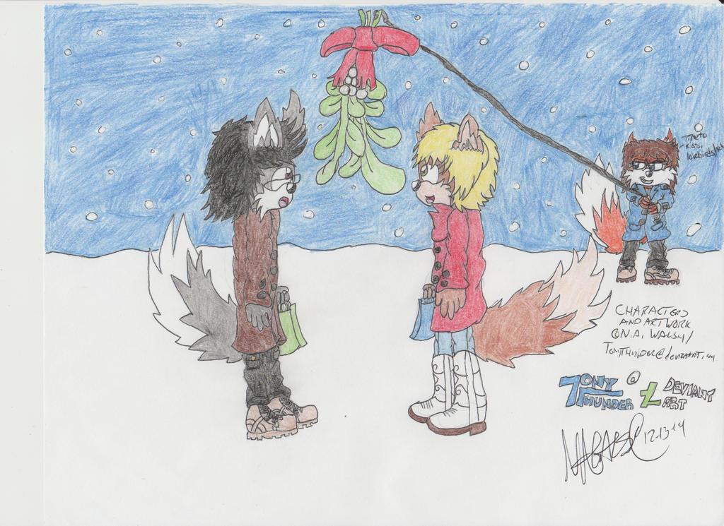 Under the Mistletoe by Tonythunder