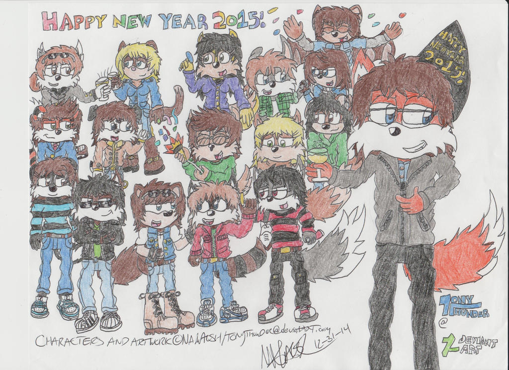 Celebrating the New Years (New Years '15) by Tonythunder