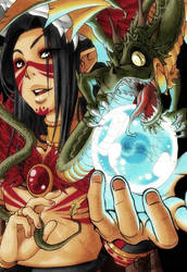 The mighty Dragon Magician by Rey-HANA