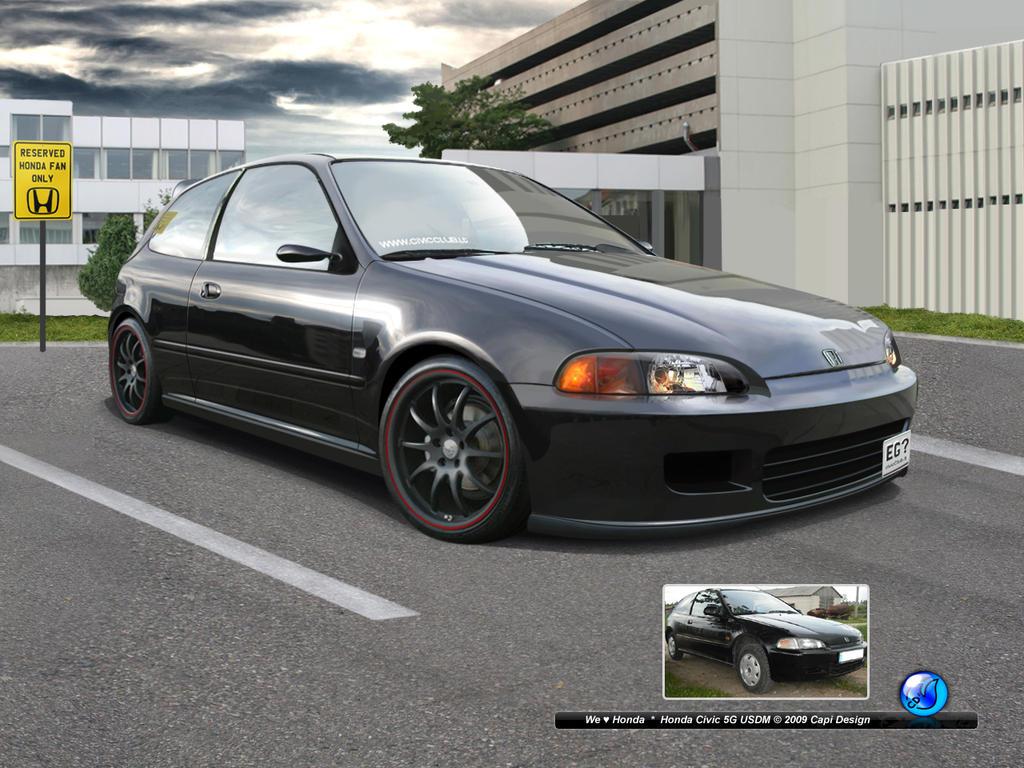 Honda Civic 5gen Usdm By Capidesign On Deviantart