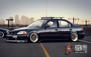 'Stanced' Honda Civic JDM