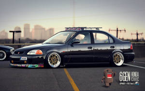 'Stanced' Honda Civic JDM