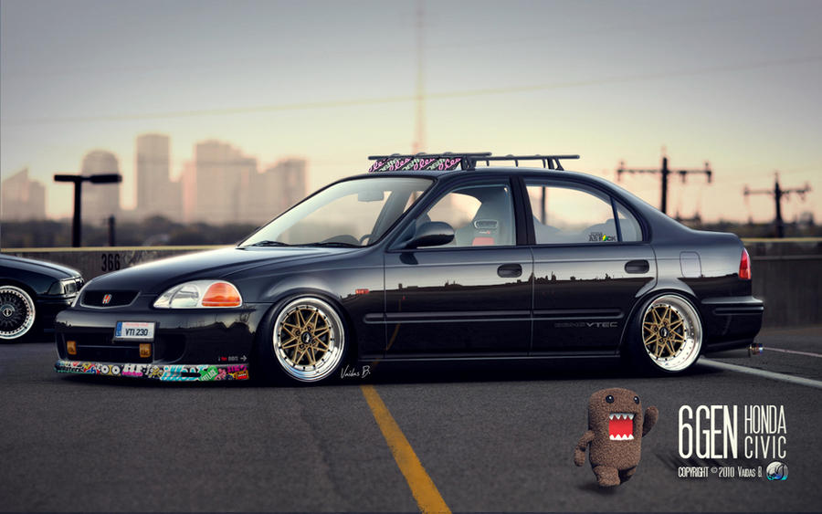 Stanced Honda Civic JDM By CapiDesign