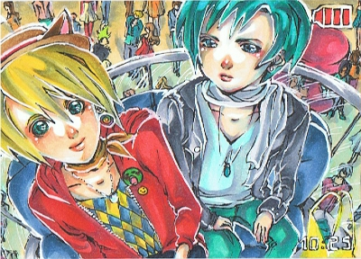 caught on camera - ACEO No. 50 by PiuPiuThePENGUIN