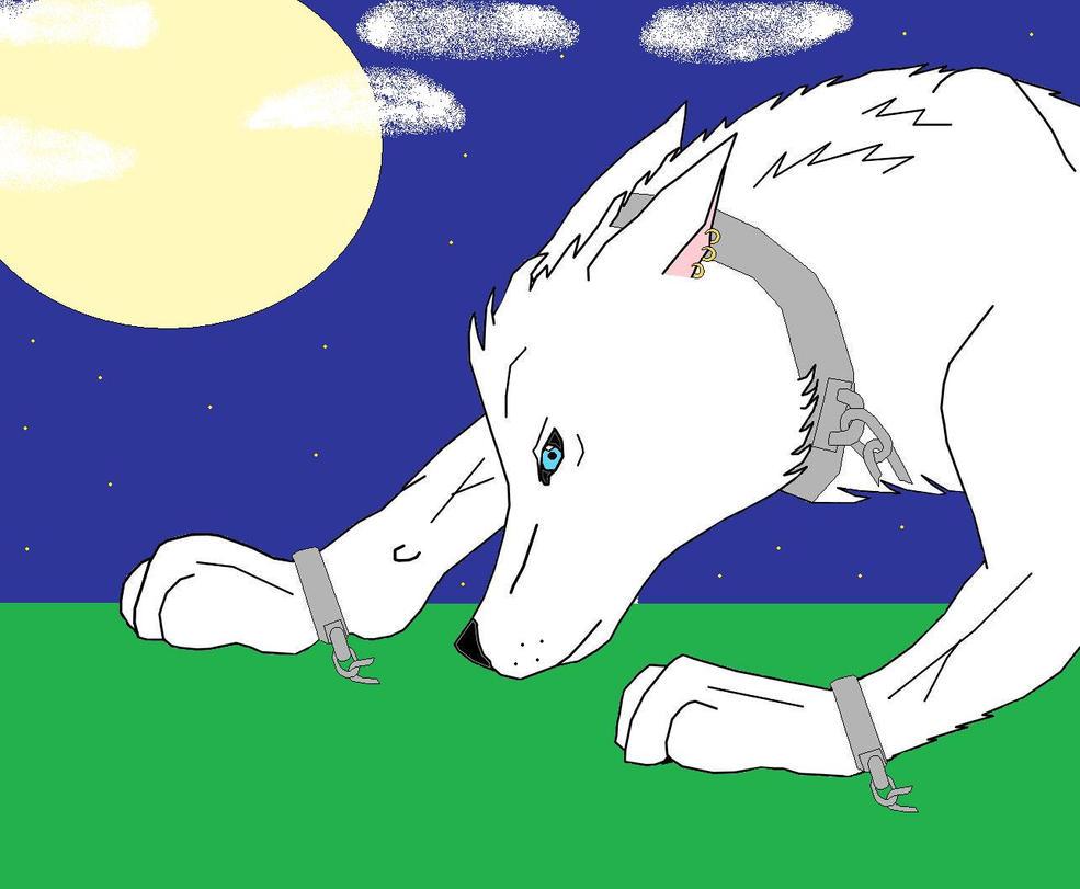 Maya Werewolf Line art (Chibi-kimmi-chan) by Rosewolf86