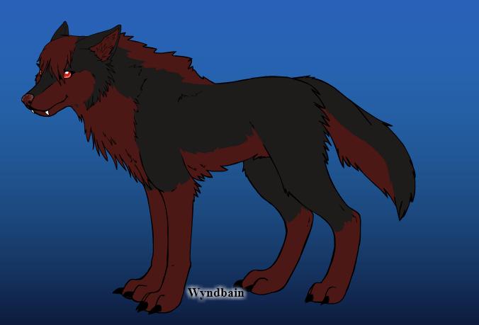 Bernadett the hell hound by Rosewolf86