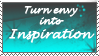 Stamp: Envy to Inspiration by SometimesCats