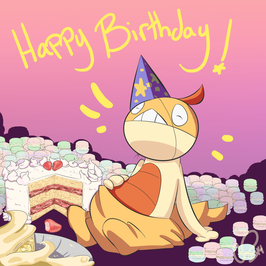 Happy LATE Birthday by SometimesCats