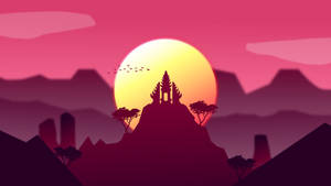 Sunset on a temple