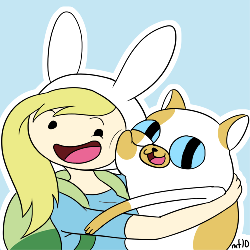 Fionna y cake abrazo :3 by Fluttershy78
