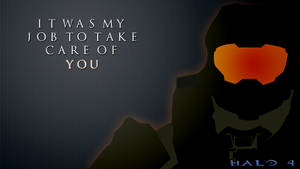 Master Chief minimalism wallpaper by Browniehooves