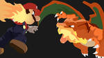 Mario and Charizard Smash Brothers wallpaper