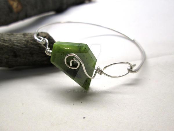 Jade Spiral Bracelet by Nine-MileStudios