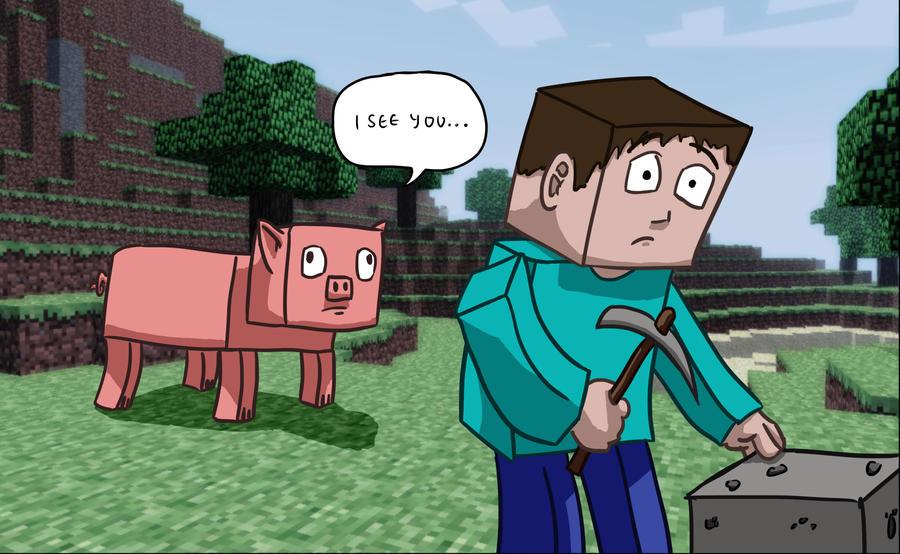 Minecrafts creepy pigs by CiPReZ on DeviantArt