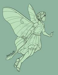 Luna Moth Fairy by RobanCrow
