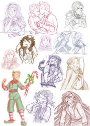 FE - Sketchy Heroes by RobanCrow