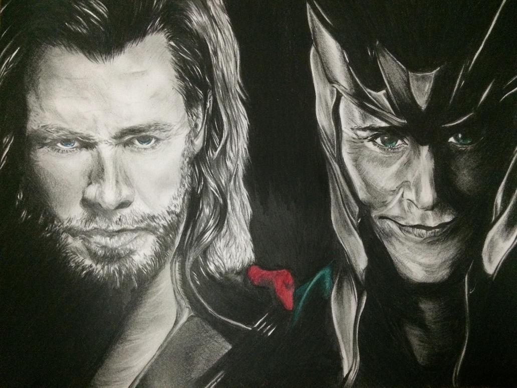 Thor and Loki by Asayn-Gazzedon11