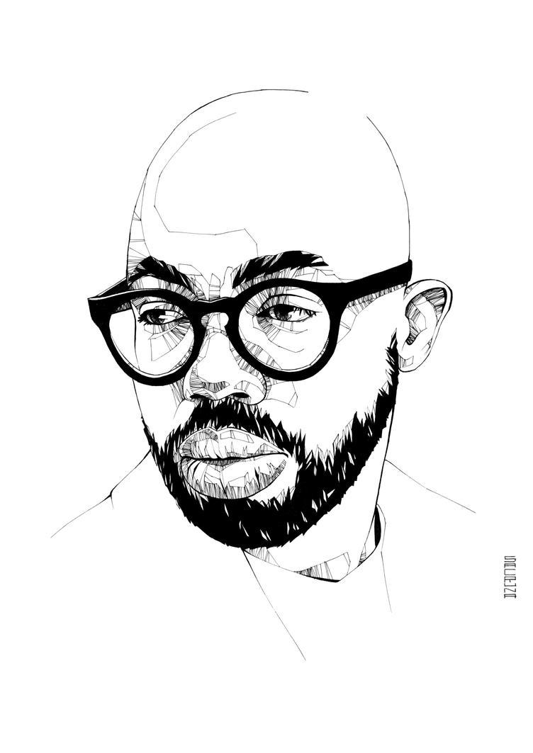 Portrait of Obaro Ejimiwe (Ghospoet) by Sacruna