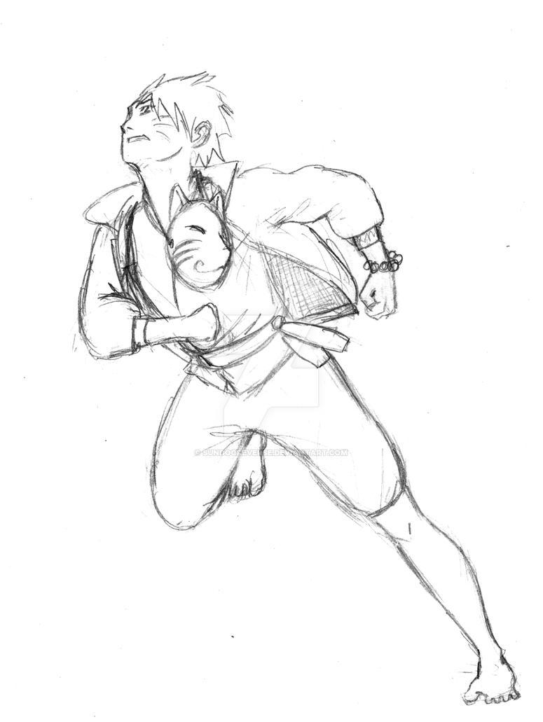 Running fox naruto sketch by sundogreverse on deviantart - Croquis naruto ...