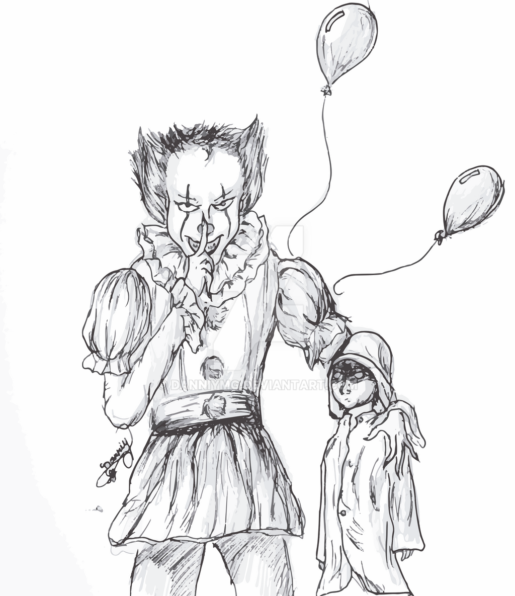 pennywise the clown coloring pages - pennywise dibujo by danniymg on deviantart