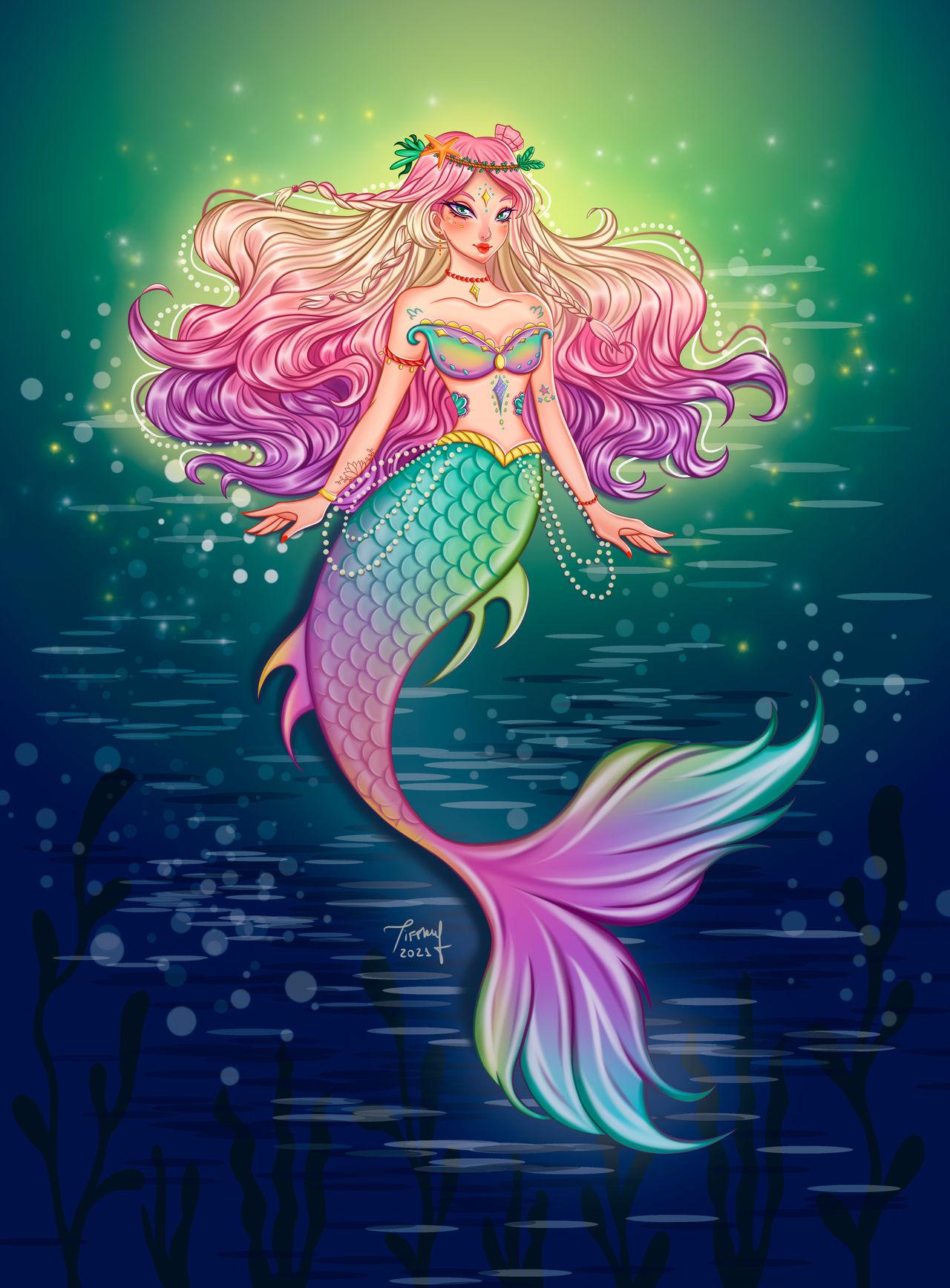 MerMay 12 Glowing Mermaid by Cherryfany on DeviantArt