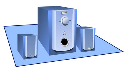 Speaker set with a sub-woofer