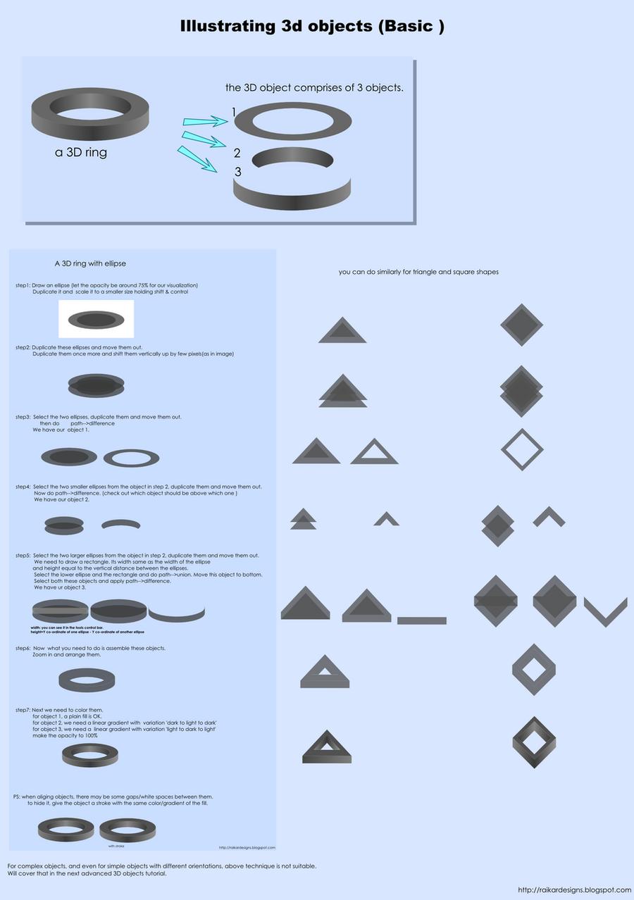 Inkscaping simple 3D objects. by rockraikar