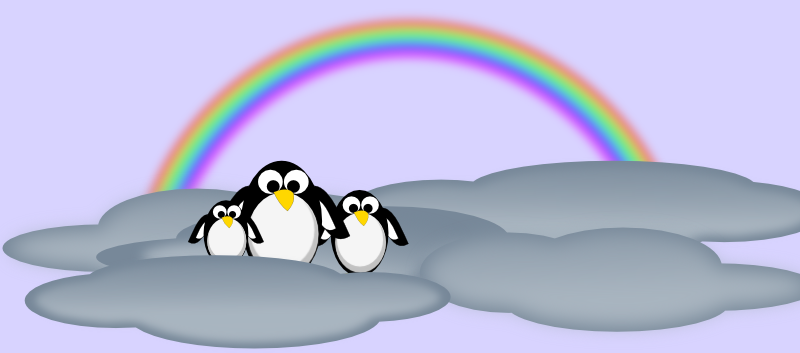 Rainbow and  clouds.. by rockraikar