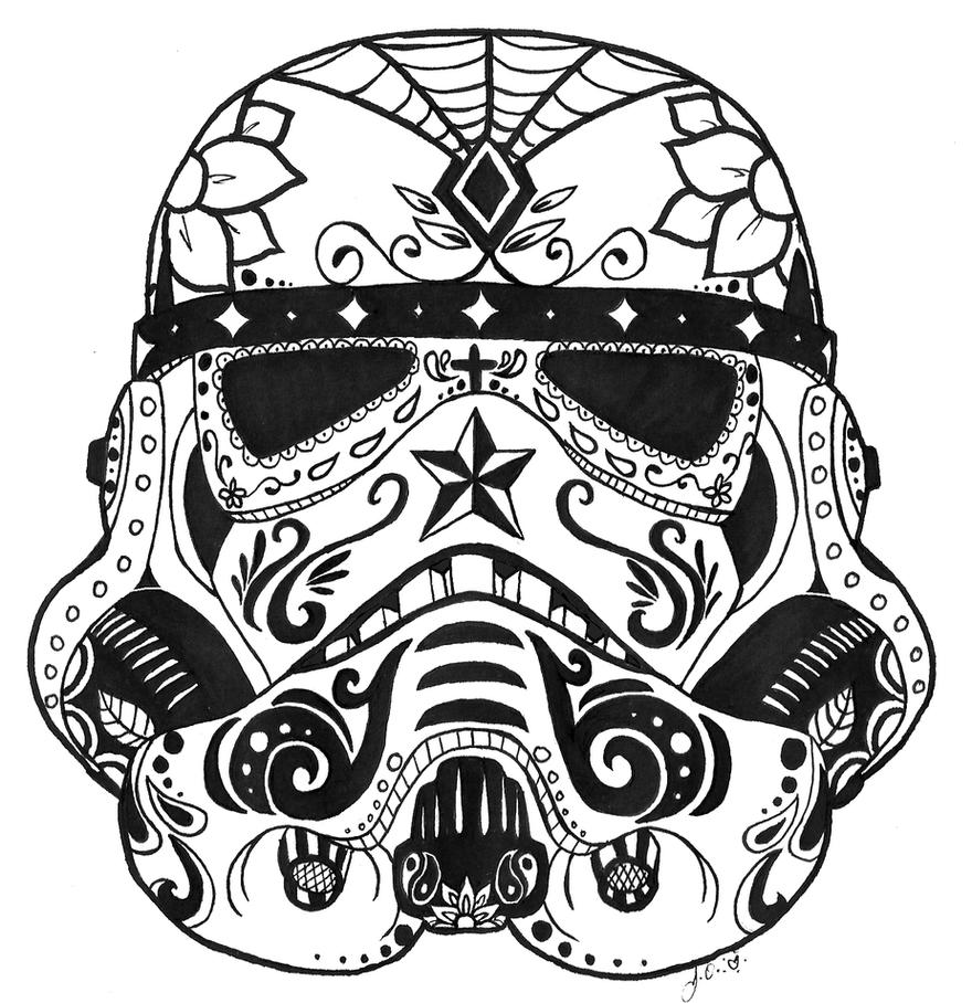 Stormtrooper Sugar Skull by guardian-angel15