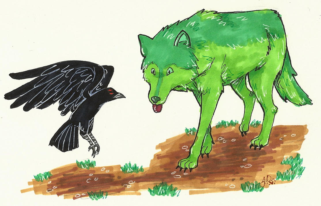 Wolf and Raven by guardian-angel15