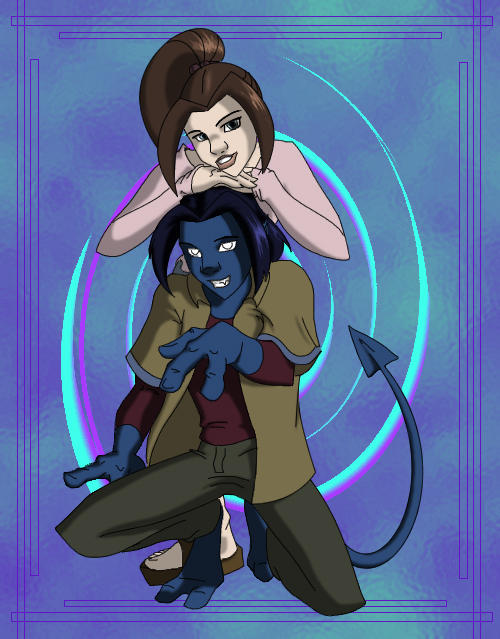 Kitty 'n' Kurt by Raphaella on DeviantArt