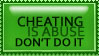 Cheating is abuse stamp by jadesama