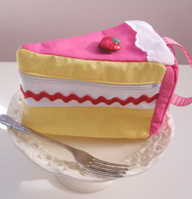 strawberry sponge cake purse by tabithaemma
