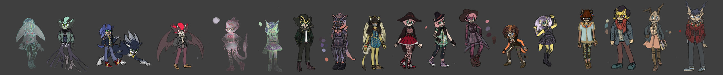 Haunting at Heckwell High Characters by Hyenwolf