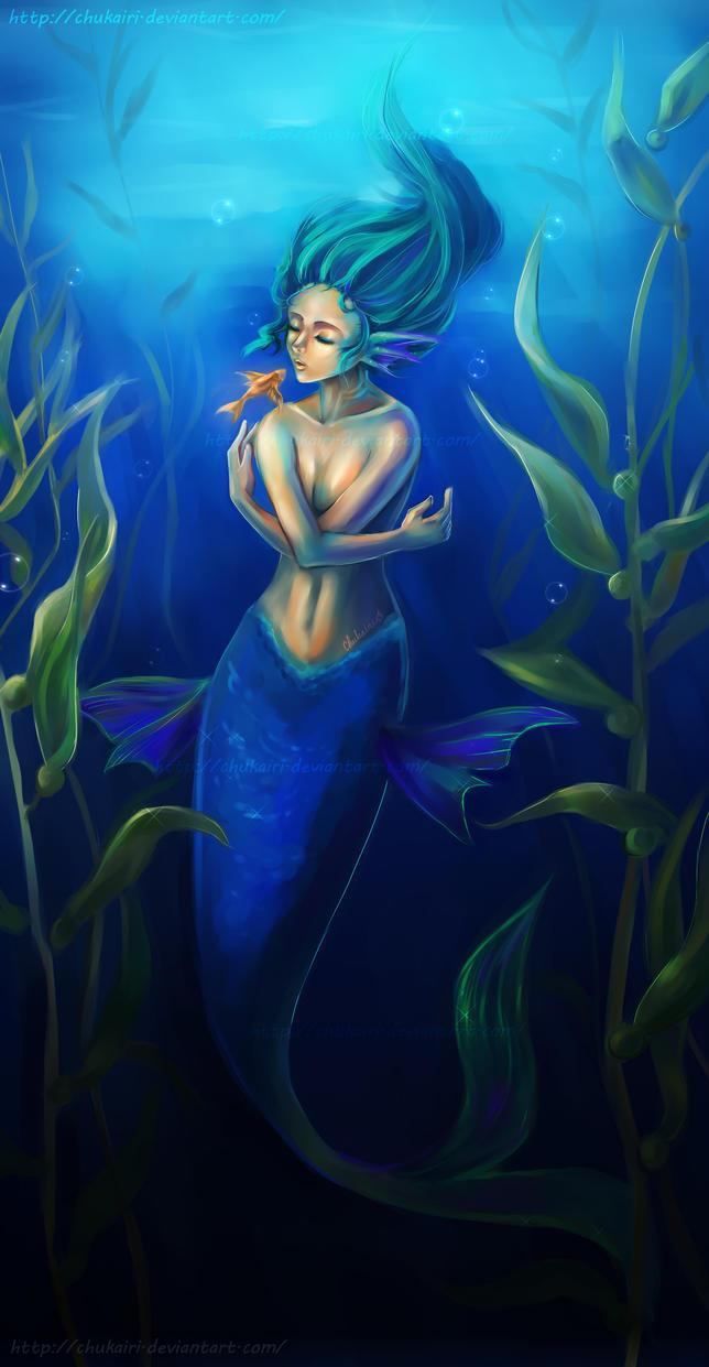 Golden Kiss-  Mermaid by Chukairi