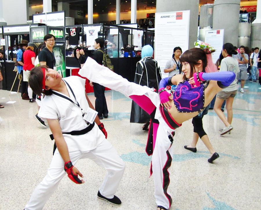 Ryu VS Juri Han by Chukairi