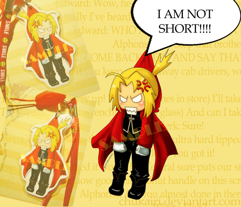 Edward Elric- I'm not short by Morigalaxy
