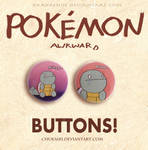 Pokemon Awkward- Squirtle Button Set by Morigalaxy