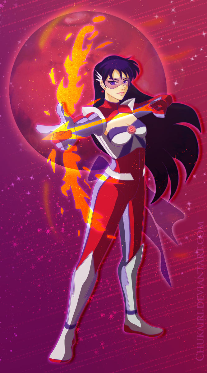 Futuristic Sailor Mars by Morigalaxy