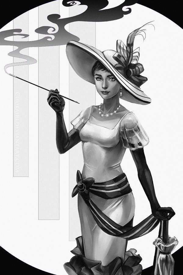 Audrey Hepburn by Chukairi