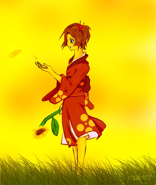 Forgotten sunflower girl by Morigalaxy