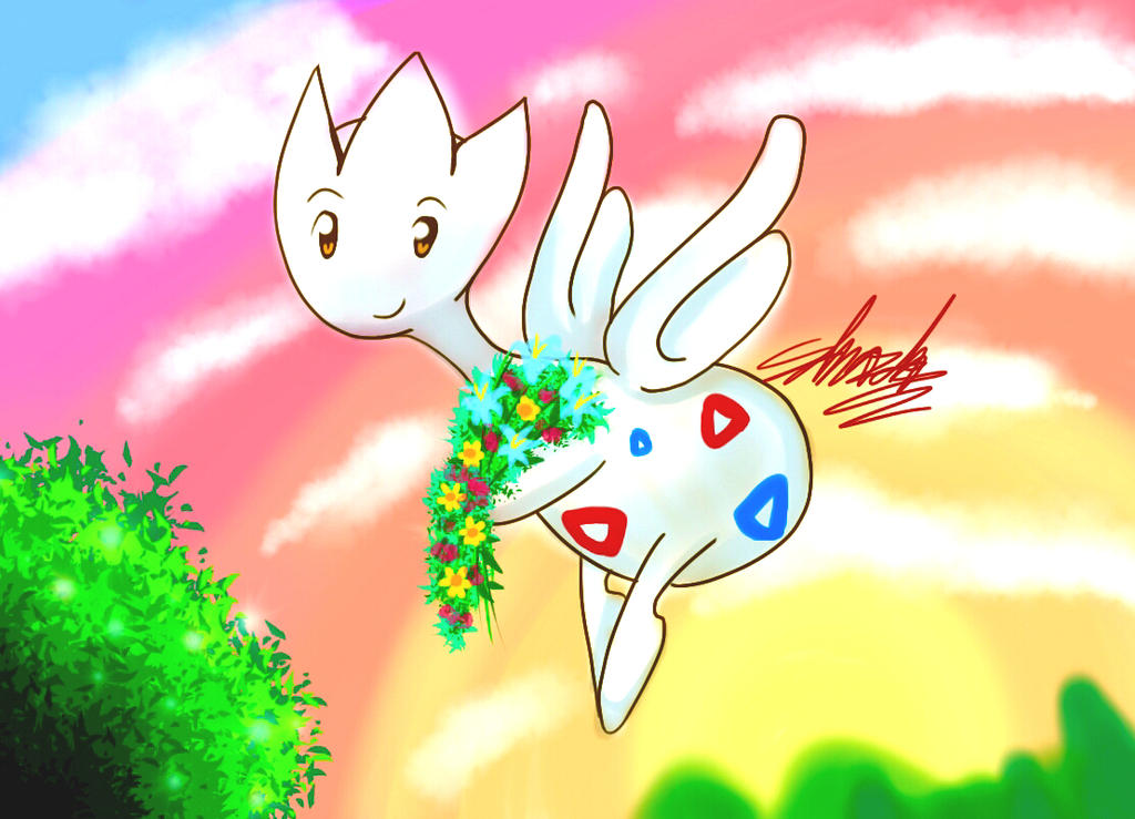 Togetic - Joyful present by EdwardTCat