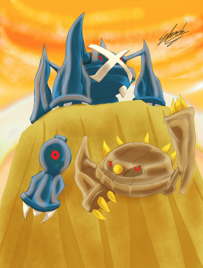 Metagross Family by EdwardTCat